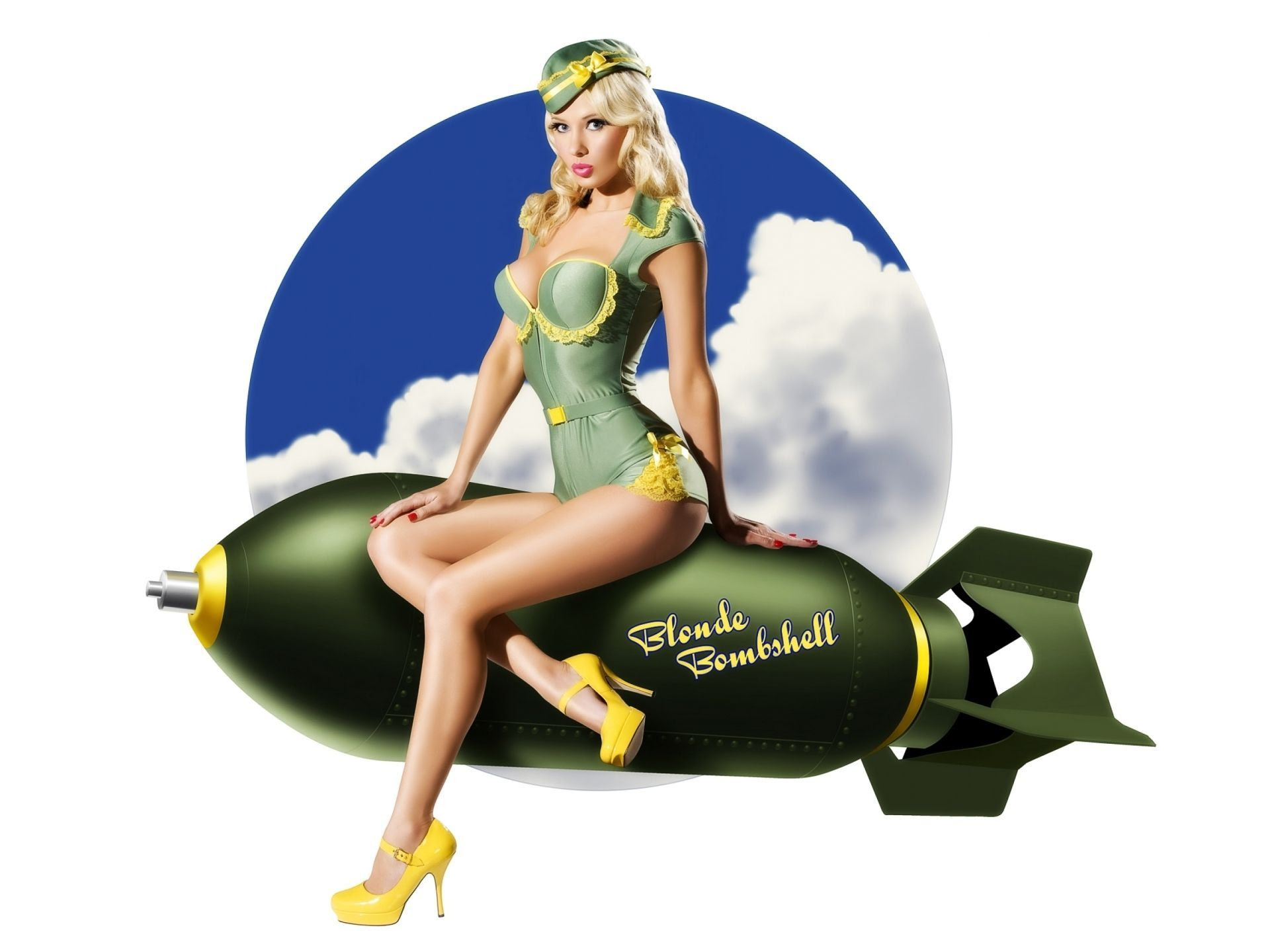 Best Wallpaper Of The Pin Up Girl Photo Of Pinap The Atomic Bomb