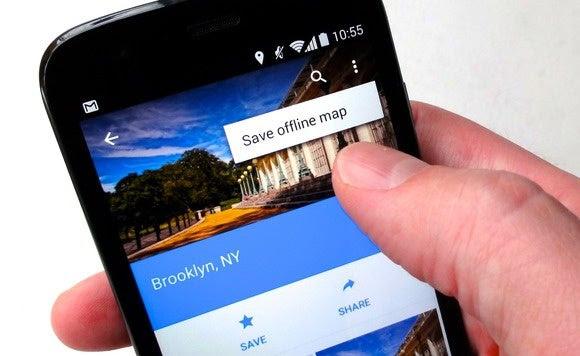 google maps app save offline map 3