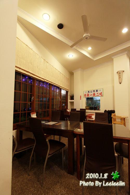 谷岸茶居餐館 擁廬山吊橋美景