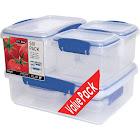 Sistema Klip It 12-Piece Rectangular Containers - 6 pack