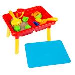 Hey Play 80-TK036196 Water or Sand Sensory Table with Lid & Toys