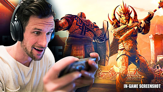 THIS IS A MOBILE GAME!? • Dawn of Titans • THIS IS UNREAL! - YouTube