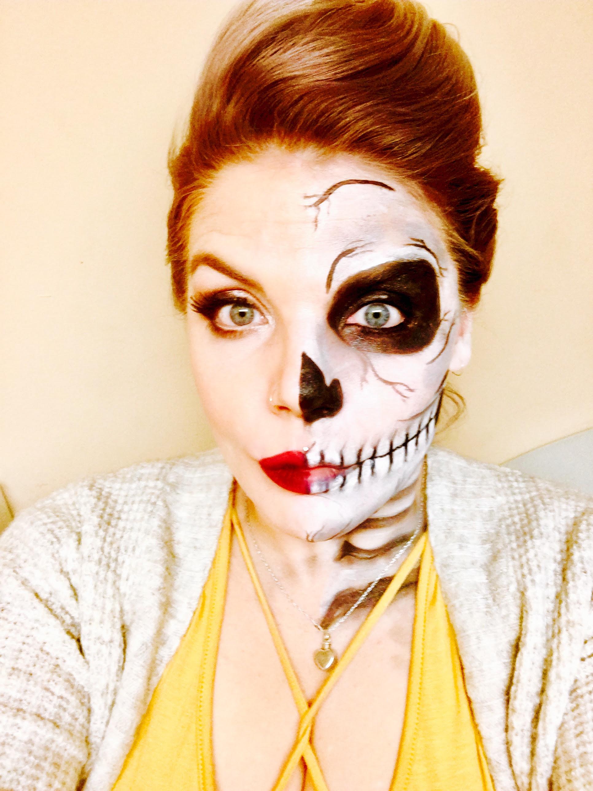 Half Skull Half Face Drawing At Getdrawingscom Free For Personal