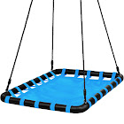 Best Choice Products 40x30in Giant Heavy Duty Mat Platform Tree Swing for Multiple Kids Blue