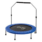 "Pure Fun 40"" Round Rebounder Trampoline with Adjustable Handrail"