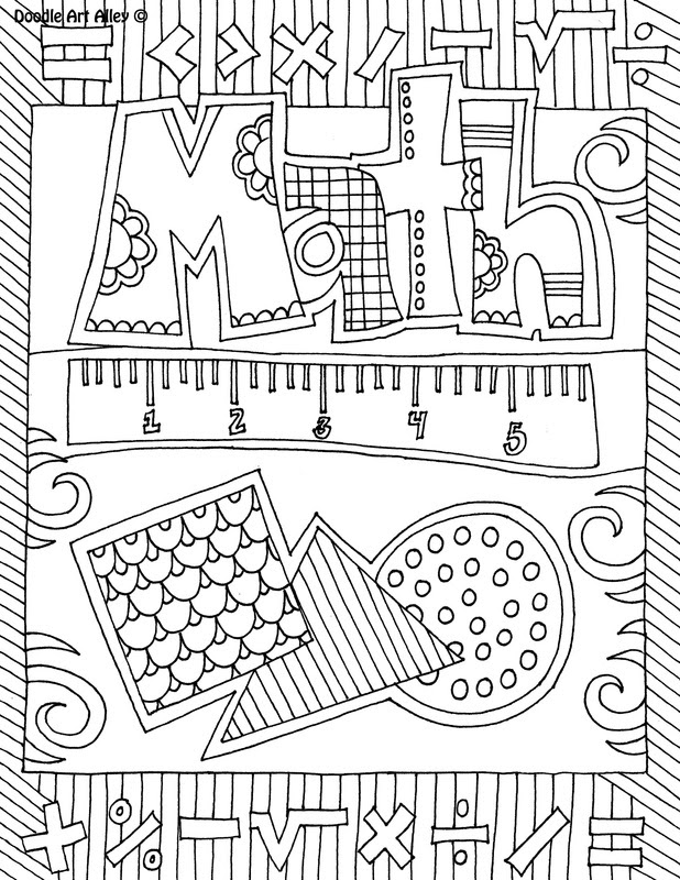65 Coloring Pages In Math Pictures