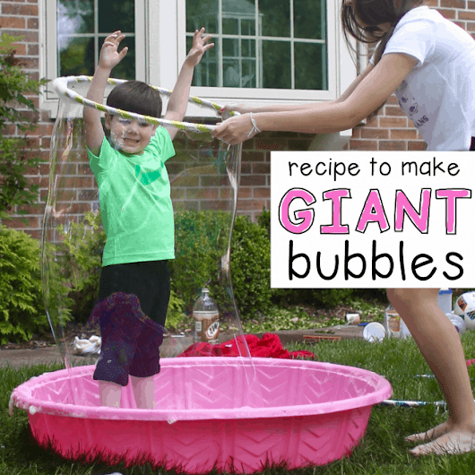 How to Make Giant Bubbles - I Can Teach My Child!