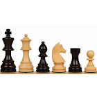 "German Knight Staunton Chess Set with Ebonized & Boxwood Pieces - 2.75"" King"