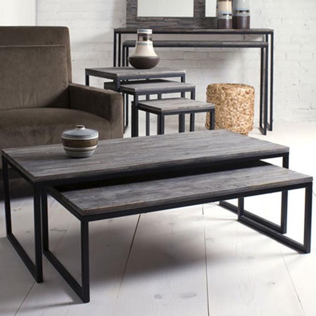 Shiraleah Rubberwood Nesting Coffee Tables, Set of 2 ...