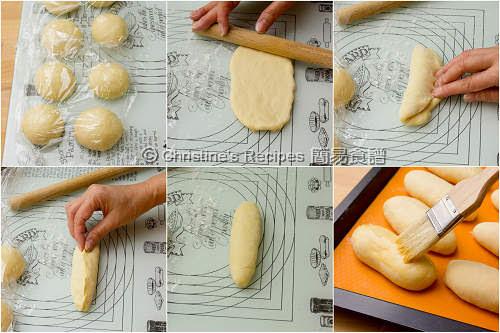 豬肉鬆湯種麵包製作圖 Pork Floss Buns Procedures