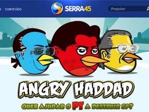 Reprodução de uma das fases do jogo 'Angry Haddad' (Foto: Reprodução)