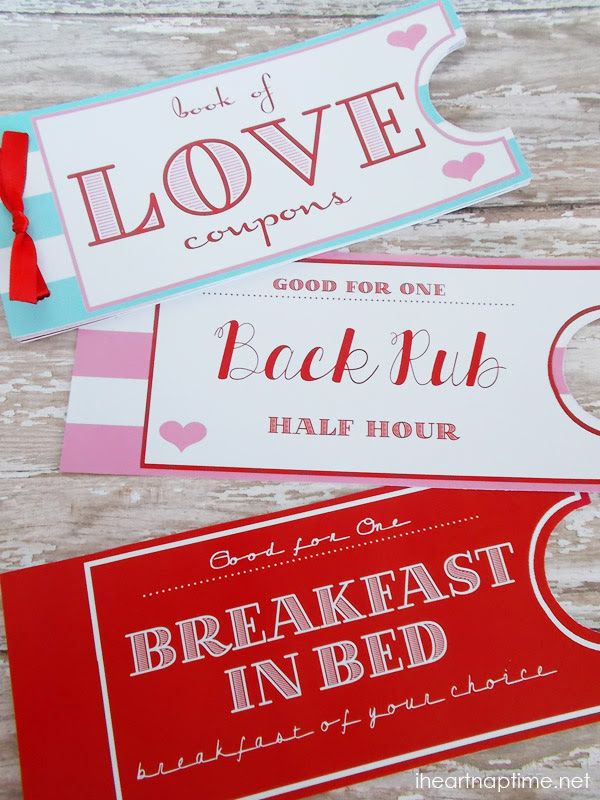 Printable Love Coupon Book by I Heart Naptime