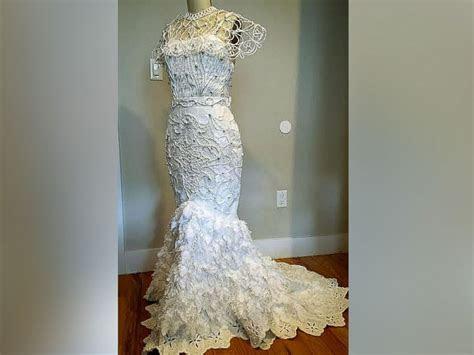 Toilet Paper Wedding Dresses Stun in Annual Contest   ABC News