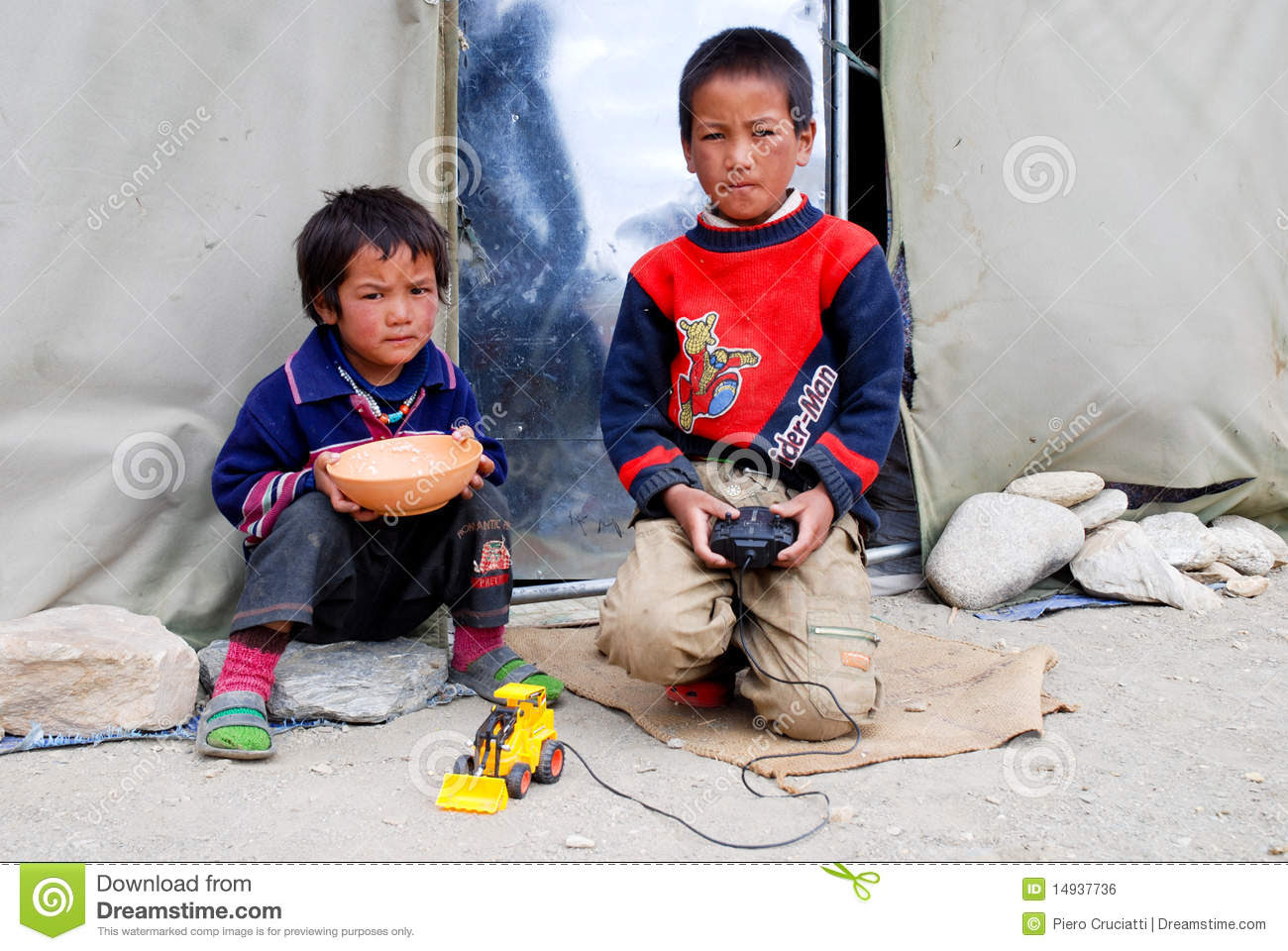 Children Playing Outside Their House Royalty Free Stock Image ...