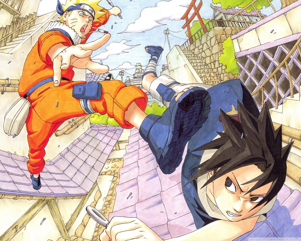 Naruto Vs Sasuke Super Hd Ultra Hd Desktop Background Wallpaper