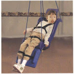 Full support swing seat with pommel, head and leg rest, large (adult), with rope - Skillbuilders - 30-1642
