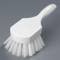 Carlisle 4054102 8 inch White Sparta Spectrum General Clean Up / Pot Scrub Brush