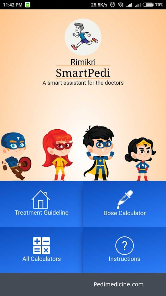 Smart Pedi Best Android App for Pediatric Emergency Dosing Guideline