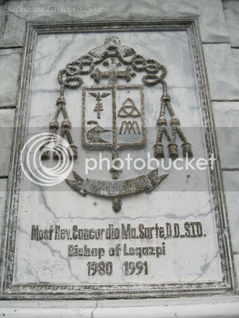 Coat of Arms of Bishop Concordio Sarte, Legazpi Diocese, Bicolandia