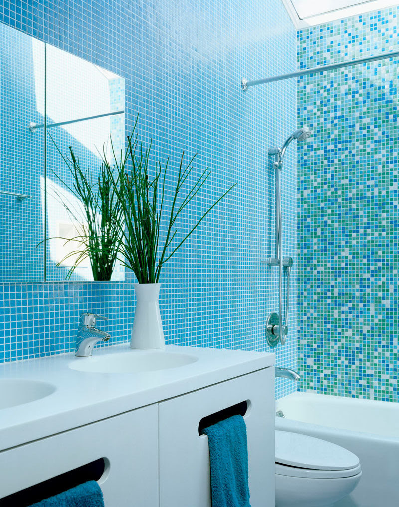 13 Inspirational Examples Of Blue And White Bathrooms Contemporist
