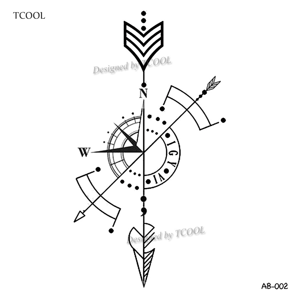 Detail Feedback Questions About Tcool Arrow Temporary Tattoo Sticker