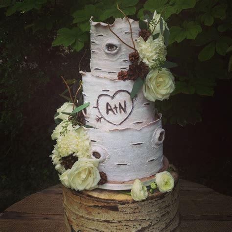 Aspen tree inspired #weddingcake #mynoahs   Wedding Cake