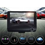 Safe Drive Dual Camera Car Dash Cam With Large Screen