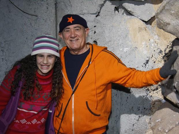 Em produção de 2009, LIlian já era veterana em atuar com o pai! (Foto: TV Globo / Alex Carvalho)