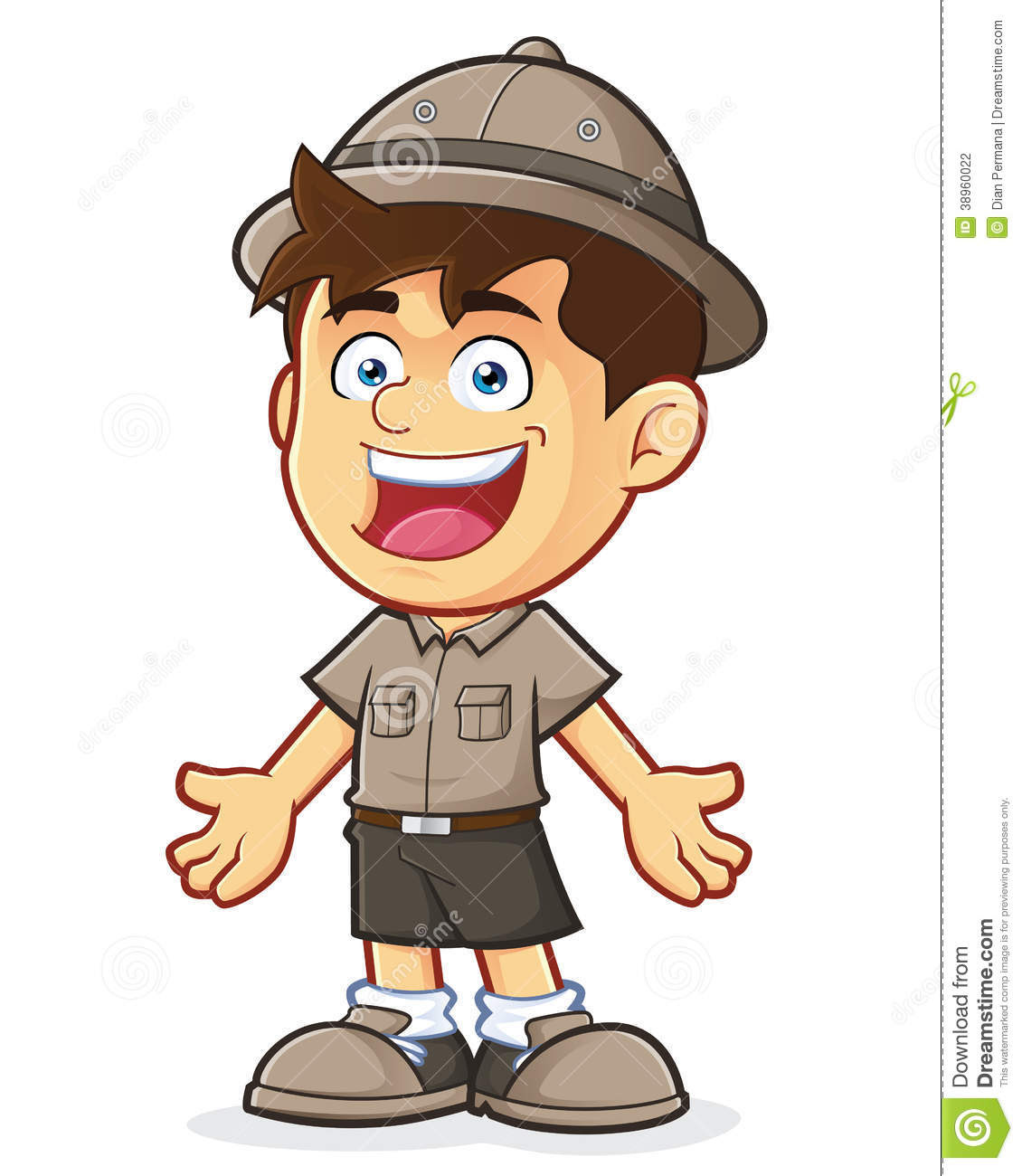 boy clipart boy scout explorer boy welcoming gesture vector clipart picture cartoon character 38960022