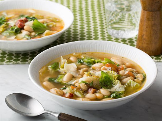 Escarole and White Bean Soup for the last of our winter days...