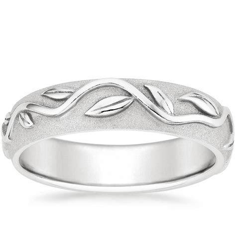 Wide Ivy Ring in Platinum