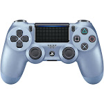 Sony DualShock 4 v2 USB Bluetooth Controller for PS4/PS4 Pro - Titanium Blue