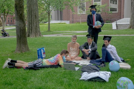 Many U.S. graduations are curtailed again, but some commencements will go on without guests.