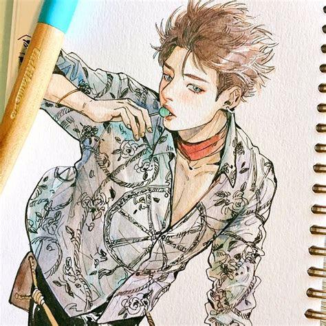 bts drawings jungkook fanart kpop drawings