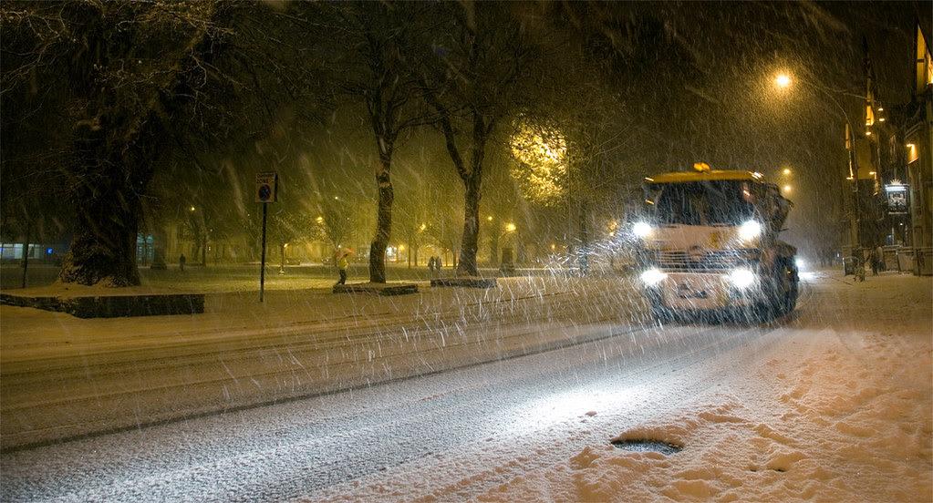 Victoria Gardens, Brighton in blizzard