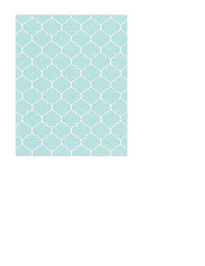7a Light turquoise Dotted Moroccan tile LARGE SCALE - A2 card size PORTRAIT or VERICAL
