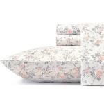 Laura Ashley Rosalie Flannel Sheet Set Queen - Gray