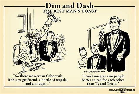 Dim & Dash: The Best Man's Toast   Manfully Masculine