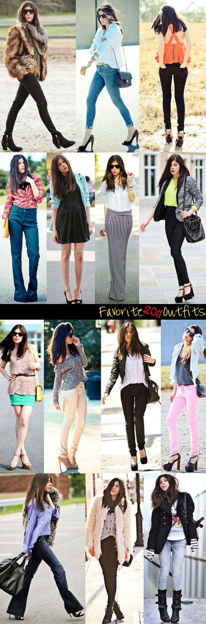 Fashion Best Outfits 2011 Collage