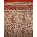 "Rajasthan Paisely Block Print Curtain Drape Panel Cotton 46""x88"""