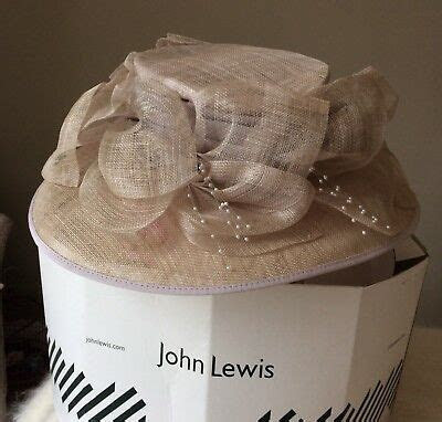 John Lewis Black & Cream Wedding Hat ? £8.50   PicClick UK