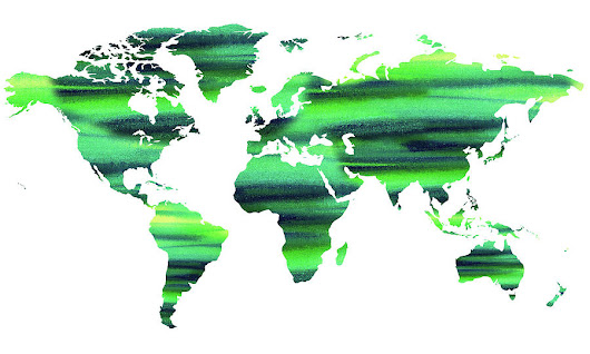 Keep The World Green Watercolor Map by Irina Sztukowski