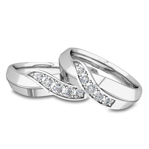 His and Her Matching Wedding Bands Platinum Infinity