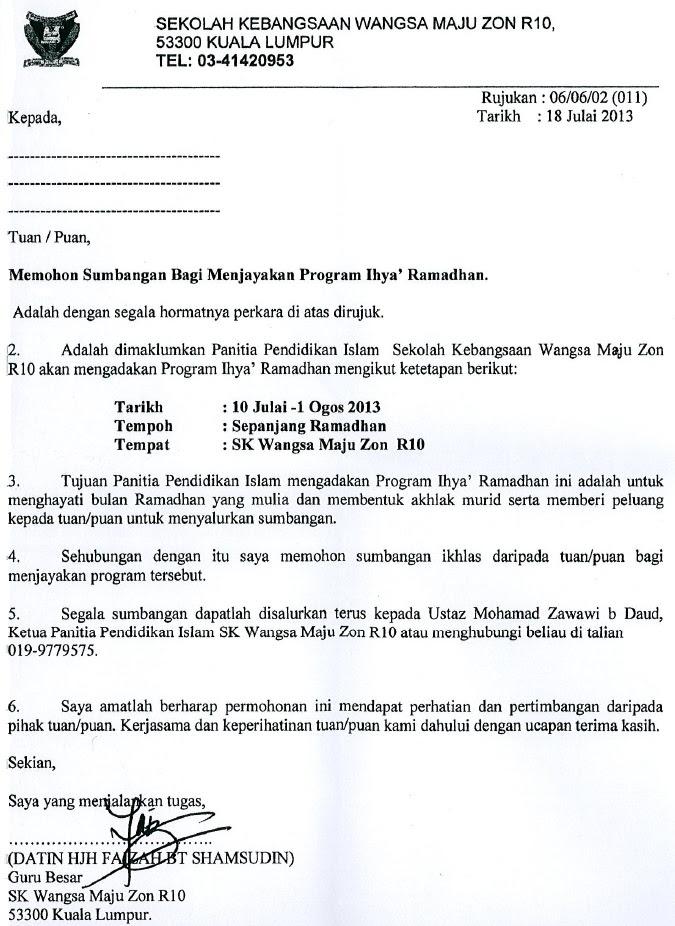 Contoh Surat Rasmi Bantuan Kewangan - 15 - Gontoh