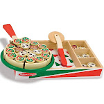 Melissa & Doug Pizza Party - Wooden Play Food