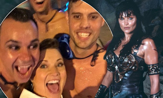 Xena's Lucy Lawless attends Sydney's Gay And Lesbian Mardi Gras