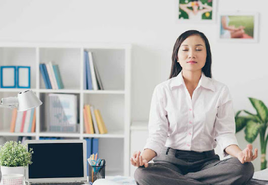 Sitting Down on the Job? Try 9 Easy Chair Yoga Poses (Infographic)