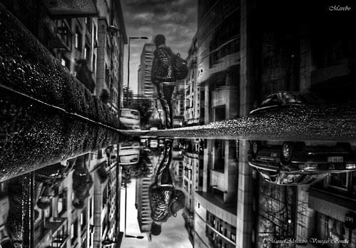 Santiago de Chile, Sábado de lluvia by Alejandro Bonilla