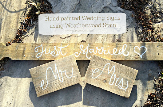 Hand-painted Wedding Signs - Gypsy Magpie