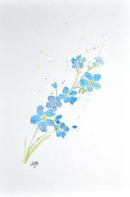 Watercolor Tattoo Resultado De Imagem Para Forget Me Not Flower